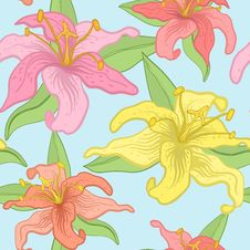 Free Vector Floral Seamless Background. Stock Photos - 21994993