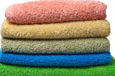 Free Colorful Towels Royalty Free Stock Photography - 21995317