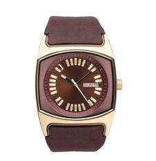 Men S Wristwatch In Brown Color Stock Image