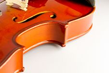 Free Close-up Violin On White Background Stock Images - 21996064