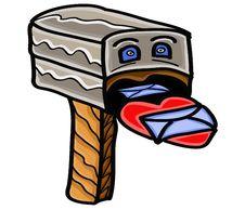 Cartoon Mailbox Royalty Free Stock Photography