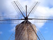 Free Spanish Windmill Royalty Free Stock Photography - 220247