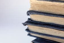 Free Pile Of Tatty Old Blue Books Stock Images - 220904
