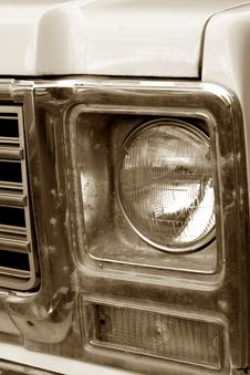 Truck Grill Stock Photo