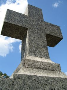 Free Cross On A Gravestone Stock Photo - 224690