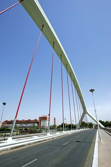 Free Abstract, Modern Bridge In Seville, Southern Spain Royalty Free Stock Image - 225026
