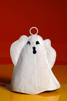 Free Ghost 2 On Orange Royalty Free Stock Images - 226279
