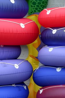 Free Pile Of Beach Floats Stock Photo - 226570