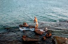 Free Fisherman And The Sea Stock Image - 228381