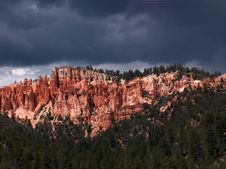 Free Storm Over Red Cliffs Stock Photography - 228662