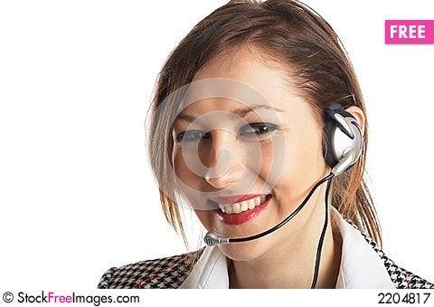 Beautiful Customer Representat Stock Photo