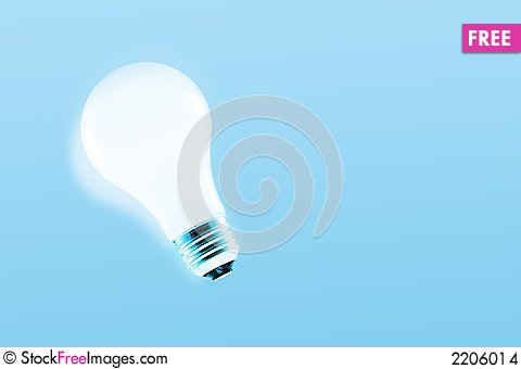 Free Glowing Light Bulb Stock Images - 2206014