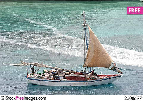 Free Bahama Work Boat Royalty Free Stock Photography - 2208697