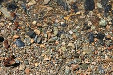 Wet Rocks And Stones Royalty Free Stock Photo