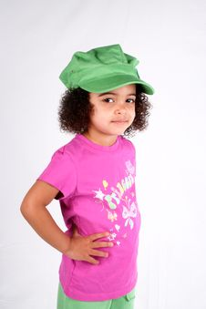 Free Girl In Green Hat Royalty Free Stock Photography - 2200187