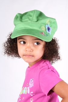Free Girl In Green Hat Stock Photo - 2200190