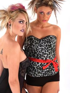Free Rebel Blond Models Royalty Free Stock Photo - 2200505