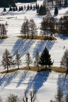 Free Aerial Snow Scene Stock Image - 2201241