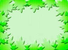 Leaves Frame Stock Photography