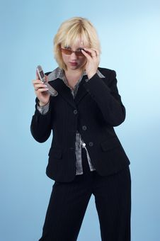 Free Buisness Woman With Glasses 09 Royalty Free Stock Images - 2202599