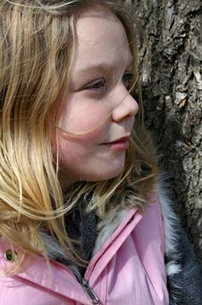 Free Girl Against A Tree Royalty Free Stock Photos - 2202888