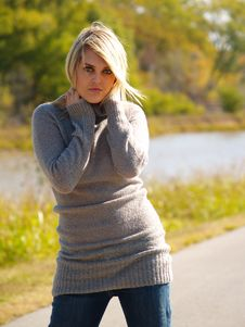 Free Blonde Model Outside Stock Photography - 2205512