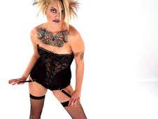 Wild Tattooed Beauty Stock Images