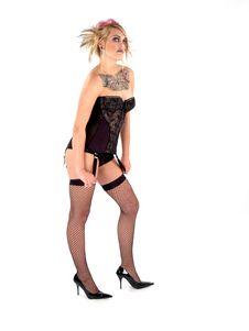 Wild Tattooed Beauty Royalty Free Stock Photos