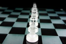Free Chess Pieces On A Glass Board Stock Photo - 2205960