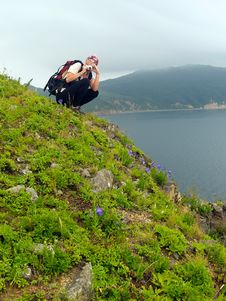Free Girl Shooting On The Sea Coast Royalty Free Stock Photos - 2206058