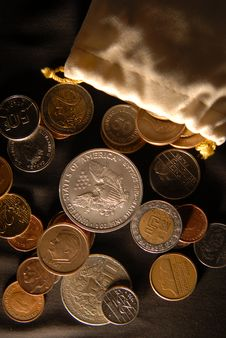 Free Coins Royalty Free Stock Images - 2206159