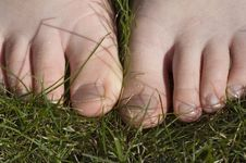 Free Walking Barefoot In Grass Stock Photos - 2207393