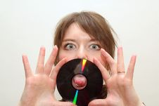 Tongue Trough Blanc Cd Disc Stock Image