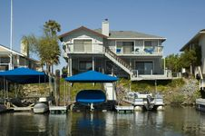 Executive House On The Water Stock Photos