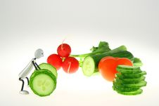 Vegetable Weight-lifter Stock Image