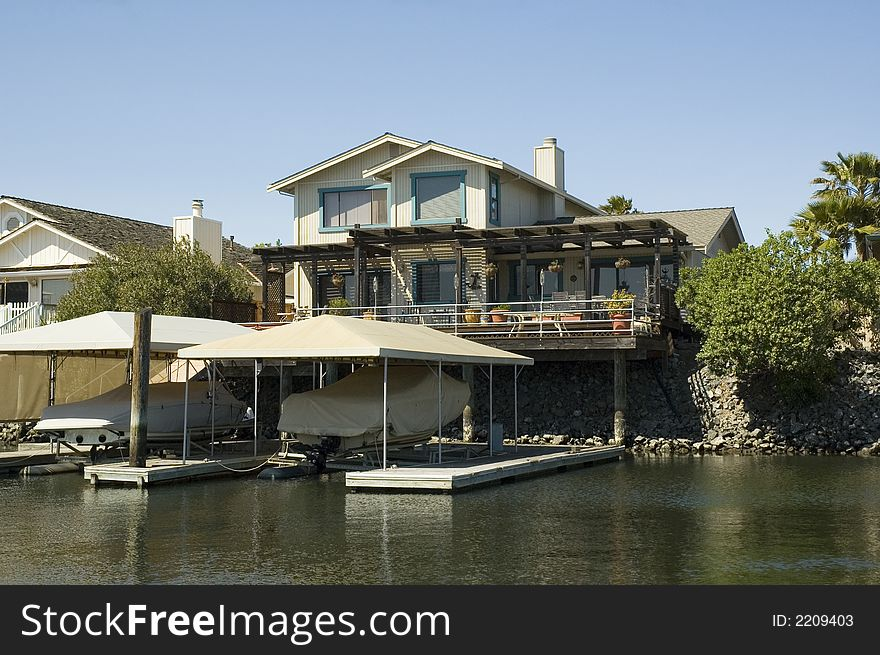 Waterfront home and dock