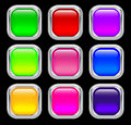 Free Set Of Glass Buttons Royalty Free Stock Photos - 22007478