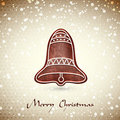 Free Christmas Greeting Card Whith Cute Christmas Bell Royalty Free Stock Image - 22009946