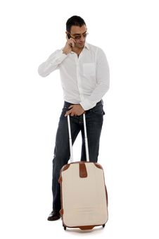 Free Man Waiting At The Airport Royalty Free Stock Photo - 22001255