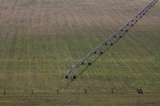 Irrigation Fields And Sprinklers Aerial Royalty Free Stock Image