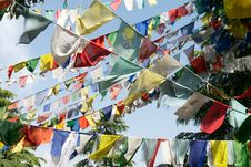 Free Buddhist Prayer Flags Stock Images - 22002614