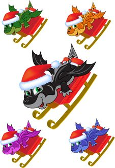 Free Dragon On A Sled Stock Photo - 22003620