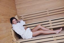 Free Young Woman Take A Steam Bath Stock Photo - 22004050