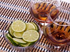 Free Cognac With Lemon Royalty Free Stock Image - 22004506