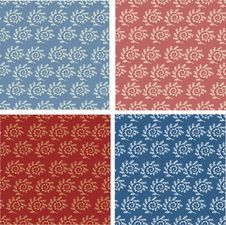 Free Set Of Abstract Seamless Patterns Royalty Free Stock Photo - 22004875