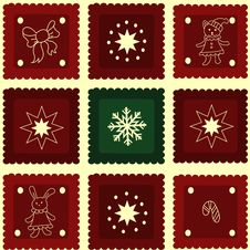 Free Seamless New Years Pattern Royalty Free Stock Image - 22005616