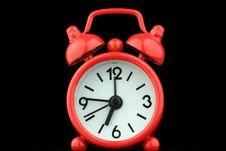 Free Red Clock Royalty Free Stock Photos - 22005638