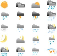 Free Weather Icons Stock Image - 22006041