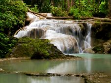 Free Erawan Waterfall Royalty Free Stock Photos - 22007748