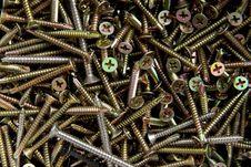 Free Screws Background Royalty Free Stock Image - 22007756